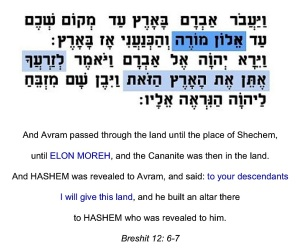 1. Mose 12, 6.7 Landverheißung