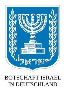 Logo der Botschat Israaels in Deutschland