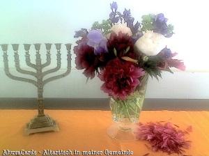 Menorah - Altar-Tisch in mener Gemeinde 25
