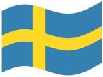 Flagge Schweden gebogen