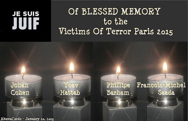 Of Blessed Memory - 4 jewish Victims in  Paris on January 8, 2015