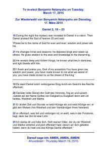 Daniel 2, 19 - 23