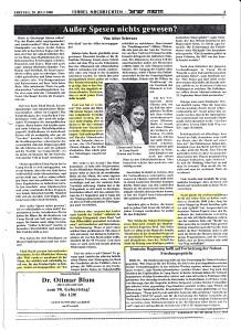 Außer Spesen nichts gewesen - von Alice Schwarz: 28. Juli 2000