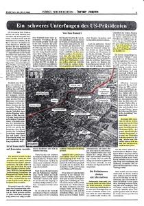 Ein schweres Unterfangen des US-Präsidenten - Chadashot Israel 28. Juli 2000