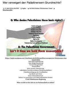 Wer verweigert den Palästinensern Grundrechte