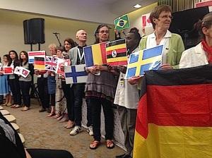 Flaggen bei der Konferenz im Mai 2015 in Jerusalem (GCP)
