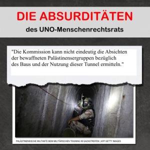 """Heplev hat das Bild gefunden und gibt ihm folgende Überschrift: """"Aus den Absurditäten des Berichts des UNO-Menschenrechtsrats"""""""