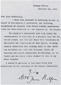 Balfour-Erkläung 1917