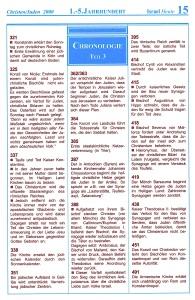 1. - 5. Jahrhundert Israel-Chronologie  Teil 3