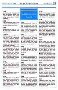 16.- 19. Jahrhundert Israel-Chronologie  Teil 11