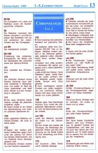 1. -  5. Jahrhundert Israel-Chronologie  Teil