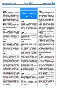 Seit 1945 Israel-Chronologie  Teil 20