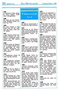 Das Mittelalter Israel-Chronologie  Teil 8
