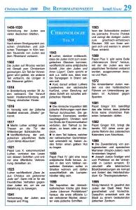 Die Reformationszeit Israel-Chronologie  Teil 9