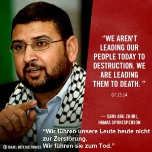 Hamas-Sprecher Sami Abu Zuhri 2014