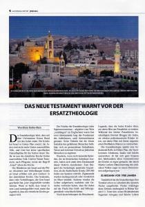 Das Neue Testament warnt vor der Ersatztheologie -1